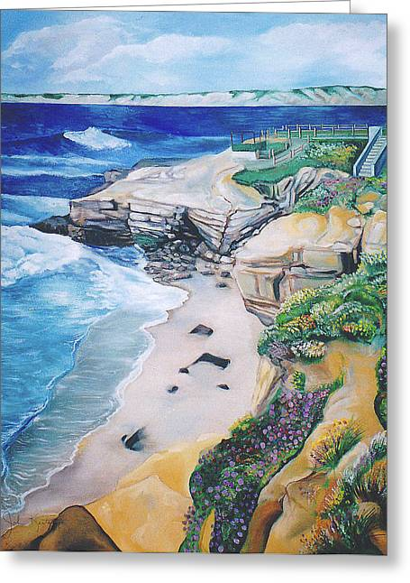 La Jolla Coast Greeting Card by John Keaton