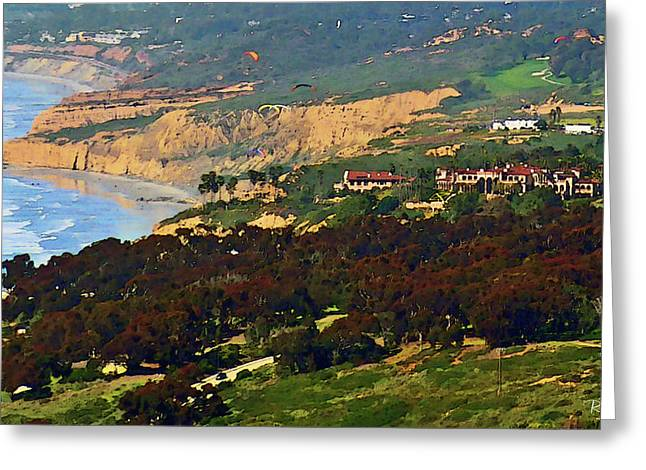 La Jolla Art Greeting Cards - La Jolla Farms - Eucalyptus Grove Greeting Card by Russ Harris