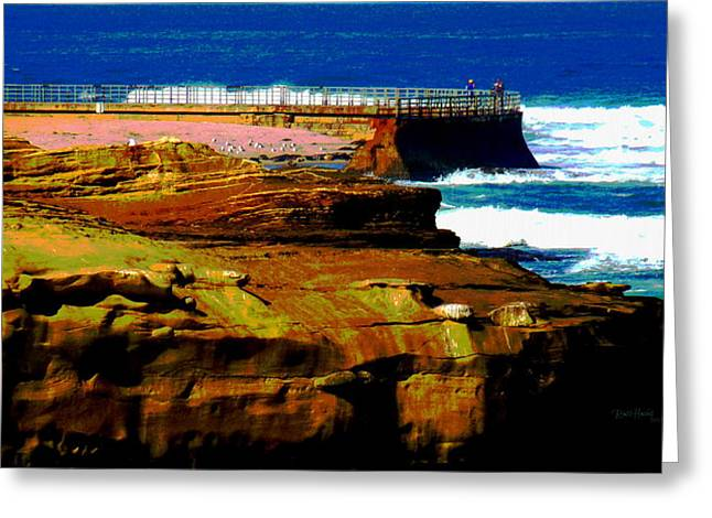 La Jolla Rocks 2 Wall Greeting Card by Russ Harris