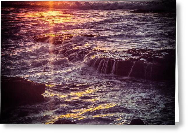 Greeting Card featuring the photograph La Jolla Sunset-color by Samuel M Purvis III