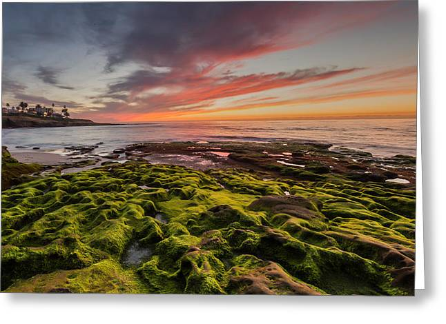 Greeting Card featuring the photograph La Jolla Sunset by Paul Schultz