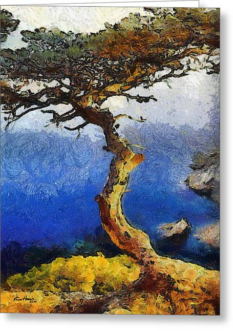 La Jolla Art Greeting Cards - La Jolla Torrey Pines  Greeting Card by Russ Harris