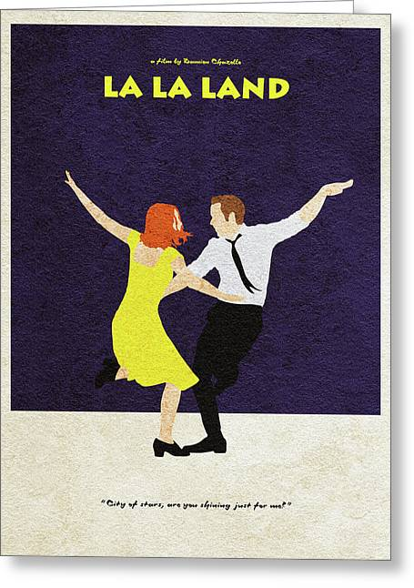 La La Land Alternative And Minimalist Poster Greeting Card