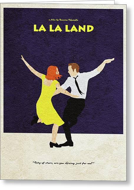 La La Land Alternative And Minimalist Poster Greeting Card