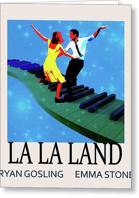 La La Land Movie Poster Greeting Card by Dan Sproul