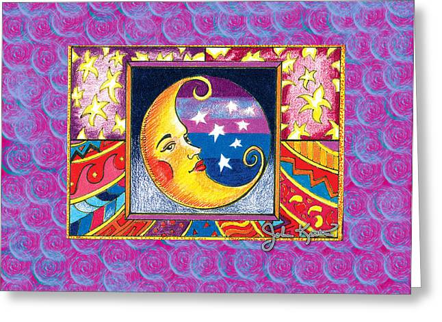 La Luna 1 Greeting Card by John Keaton