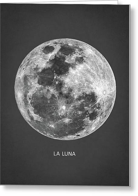 La Luna Greeting Card by Taylan Apukovska