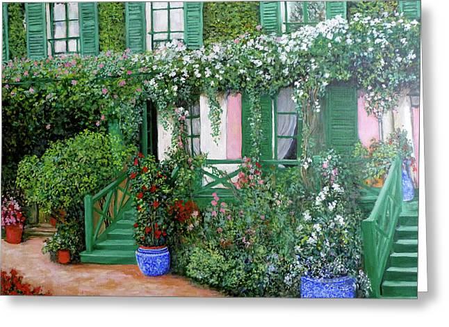 La Maison De Claude Monet Greeting Card