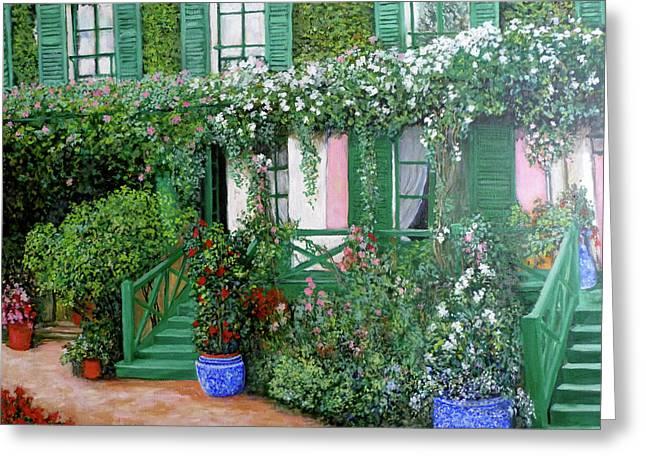 La Maison De Claude Monet Greeting Card by Tom Roderick