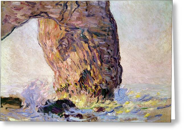 La Manneporte Greeting Card by Claude Monet