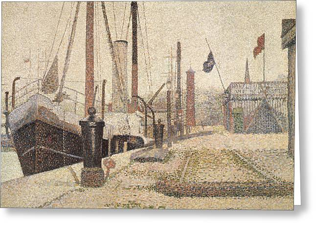 La Maria At Honfleur Greeting Card by Georges Pierre Seurat