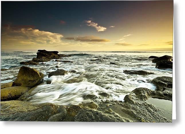 La Mer Greeting Card by Ryan Weddle