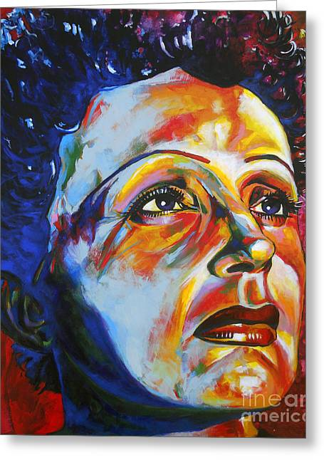 La Mome Piaf Greeting Card by Christian CAZALET
