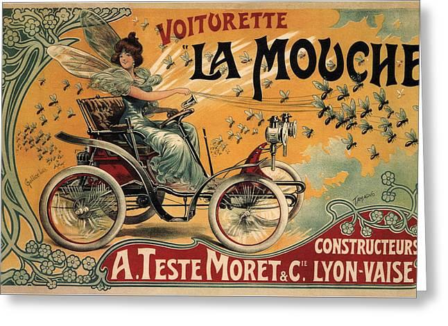 La Mouche Voiturette Greeting Card by Hans Wolfgang Muller Leg