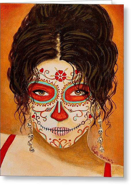 La Muerte Elegante Greeting Card by Al  Molina