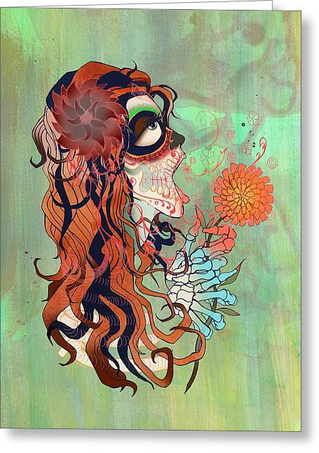La Muerte Greeting Card by Kate Collins