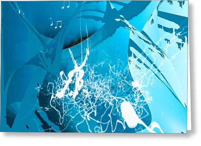 La Musica Greeting Card by Gerlinde Keating - Galleria GK Keating Associates Inc