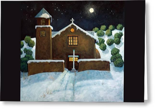 La Nochebuena Greeting Card by Donna Clair