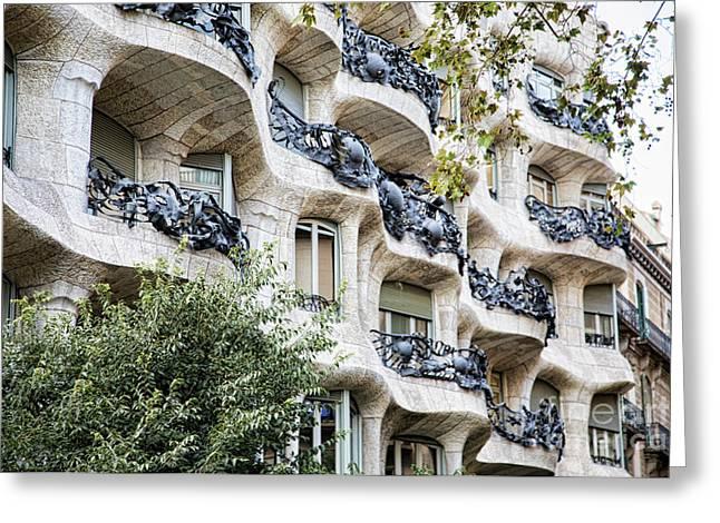La Pedrera Casa Mila Gaudi  Greeting Card