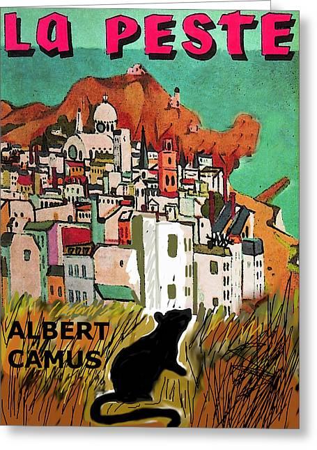 La Peste  Albert Camus Poster Greeting Card