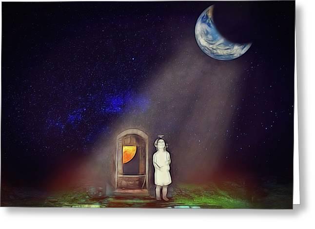 Greeting Card featuring the digital art La Petite Princesse by John Haldane
