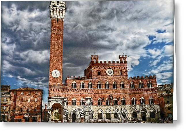 Greeting Card featuring the photograph La Piazza by Hanny Heim