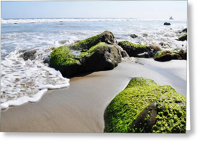 La Piedra Shore Malibu Greeting Card