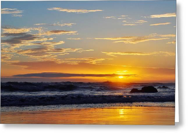 Greeting Card featuring the photograph La Piedra Sunset Malibu by Kyle Hanson