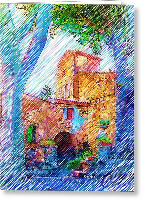 La Place De Palairac Greeting Card by Kris Woo