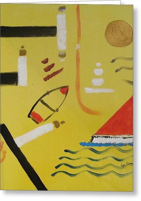 La Playa  Greeting Card by Roger Cummiskey