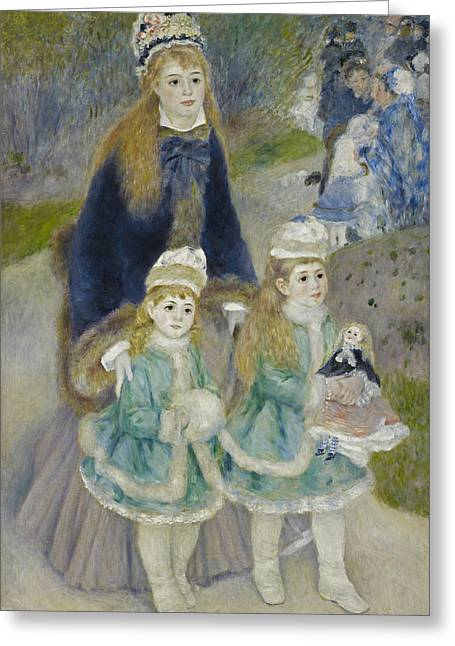 La Promenade Greeting Card by Auguste Renoir