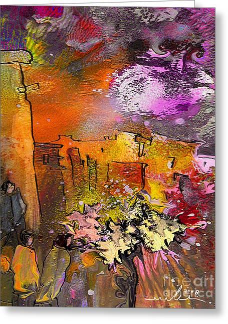 La Provence 14 Greeting Card by Miki De Goodaboom