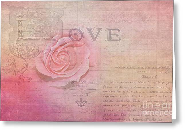 La Rose D'amour By Kaye Menner Greeting Card