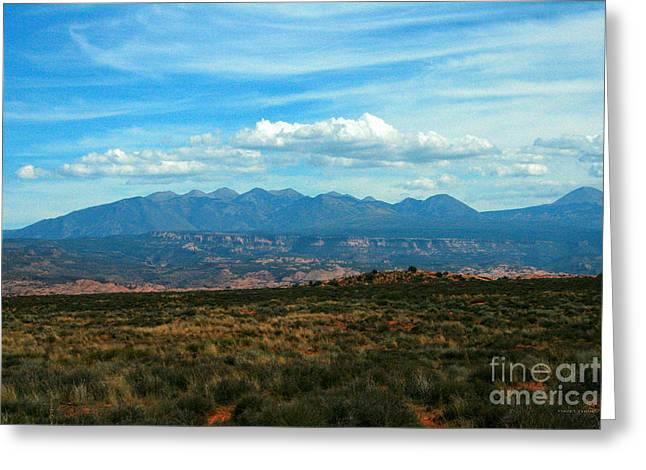 La Sal Mountains, Moab Utah Greeting Card