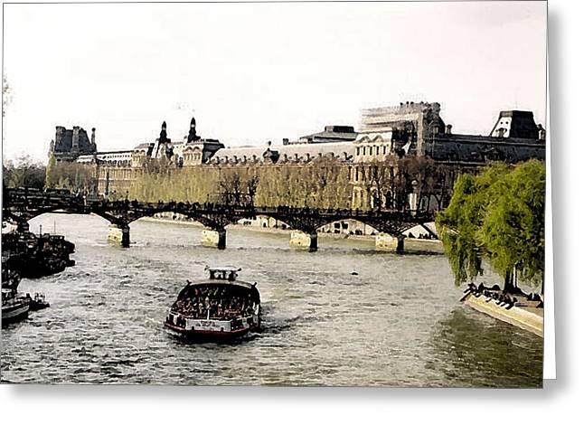 La Seine Greeting Card by John Bradburn