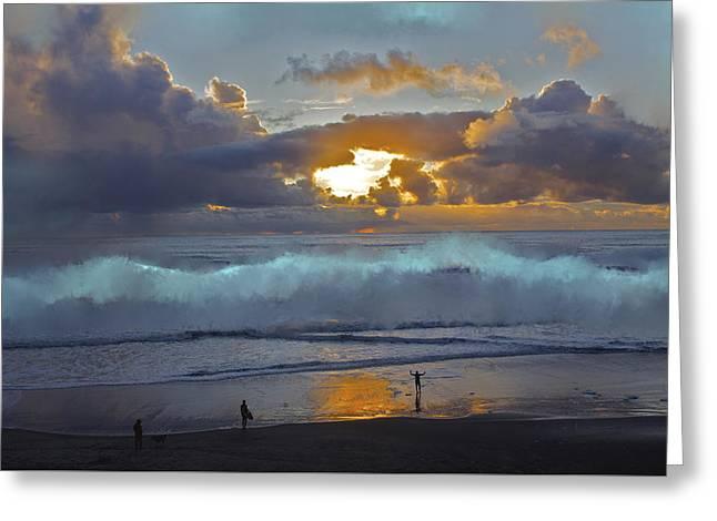 La Selva Beach Behold Greeting Card by SC Heffner