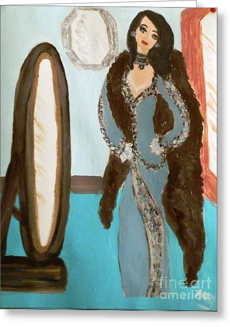 La Shai Mirror Mirror Mirror On The Wall. Greeting Card by Marie Bulger