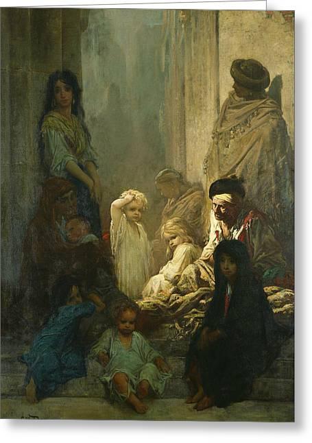 La Siesta, Memory Of Spain Greeting Card by Gustave Dore