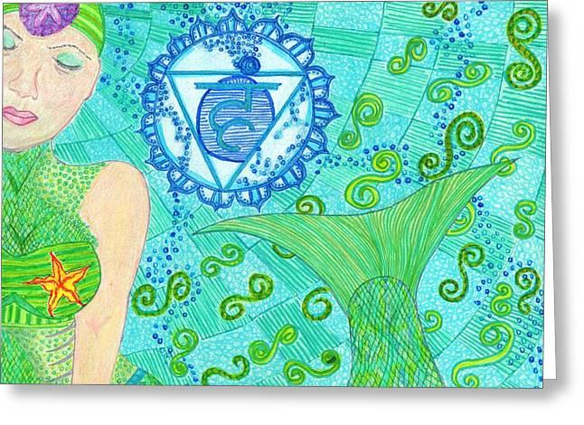 La Sirena Throat Chakra Greeting Card