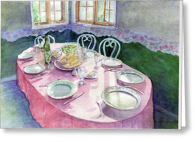 La Table De Fernande Greeting Card