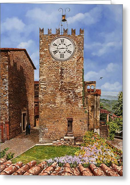 La Torre Del Carmine-montecatini Terme-tuscany Greeting Card