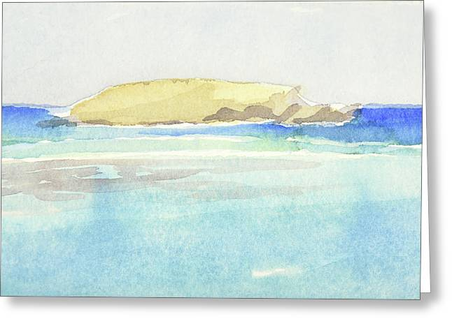 La Tortue, St Barthelemy, 1996 100x60 Cm Greeting Card