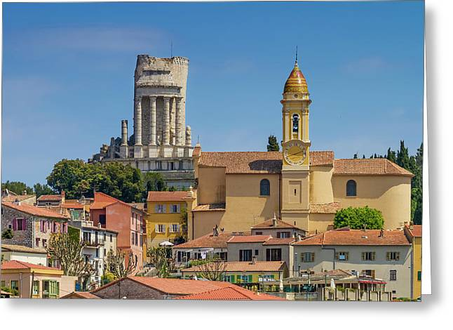 La Turbie Lovely Village In Southern France Greeting Card by Melanie Viola