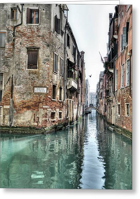 Waterways Greeting Cards - La Veste Venice Greeting Card by Marion Galt