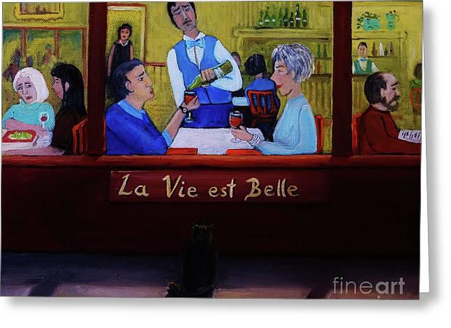La Vie Est Belle Greeting Card by Reb Frost