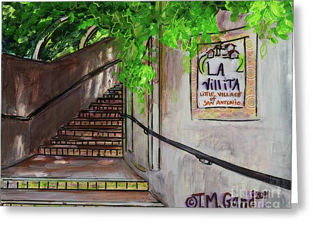 Greeting Card featuring the painting La Villita by TM Gand