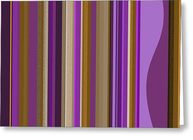Large Purple Abstract - Two Greeting Card