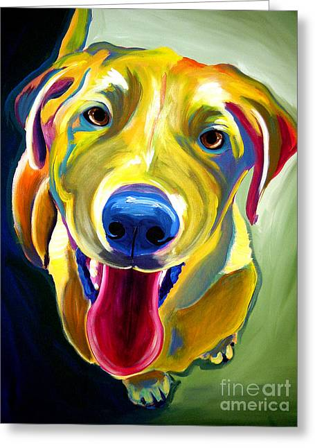 Lab - Spencer Greeting Card by Alicia VanNoy Call