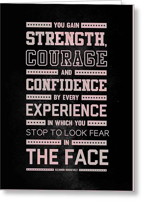 Lab N. 4 Strength Does Not Come Arnold Schwarzenegger Motivational Quote Greeting Card