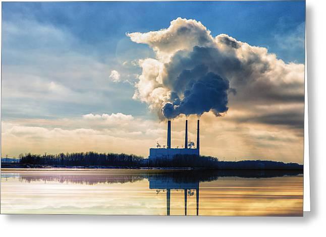 Labadie Power Station  Greeting Card by Bill Tiepelman